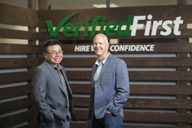 Tommy Cheng, President, and Devon Dickinson, CEO, Verified First