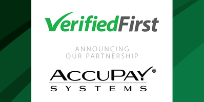 Verified First partners with AccuPay Systems