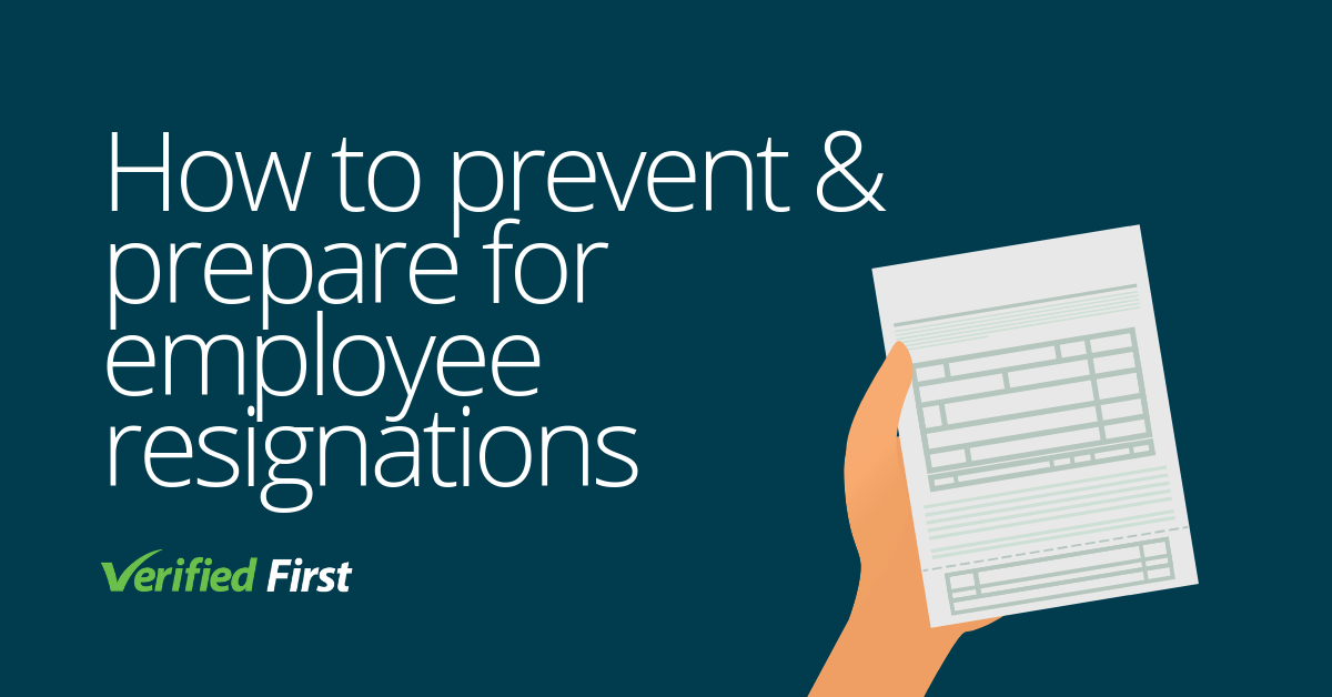 How to prevent and prepare for employee resignations