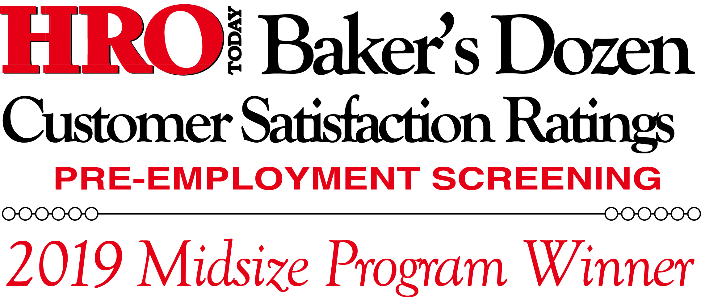 HRO Today Baker's Dozen 2019 Midsize Program Winner